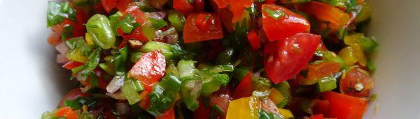Couscous mit frischer Salsa & Auberginen