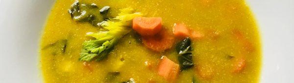 Bunte Topinambur-Kartoffel-Suppe