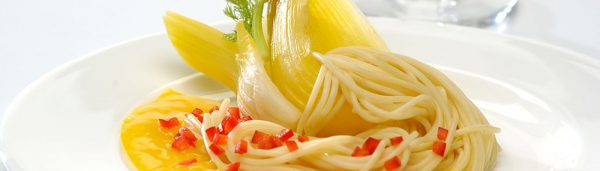 Spaghetti mit Orangen Fenchel