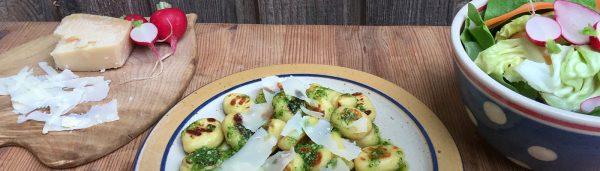 Gnocchi mit Radieschen-Pesto