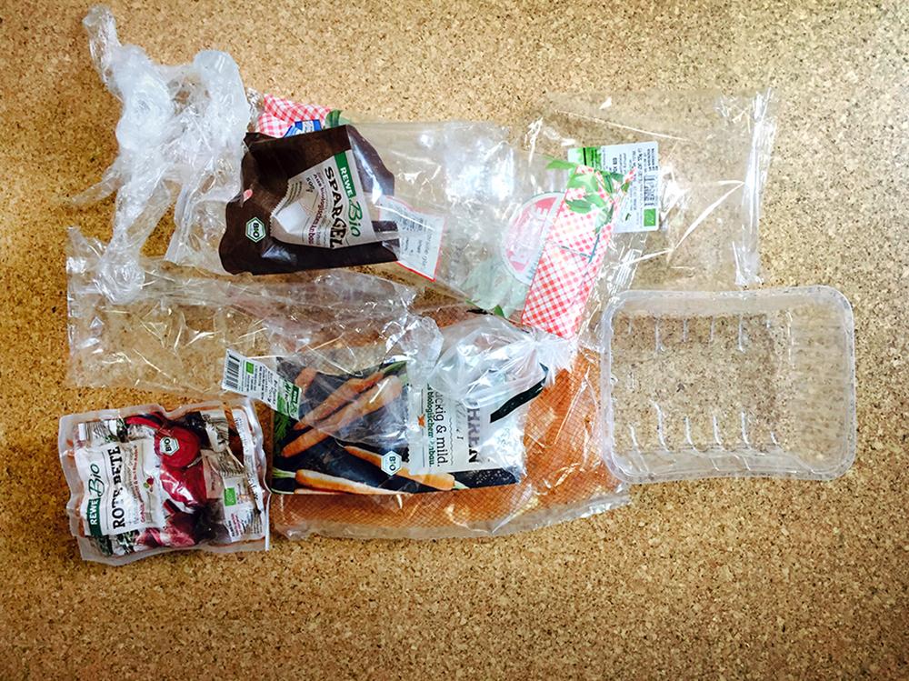 In Plastik Gepackt Und Gewichst