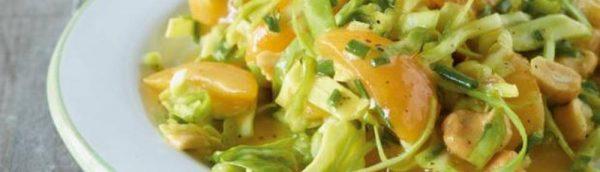 Spitzkohl-Aprikosen Salat
