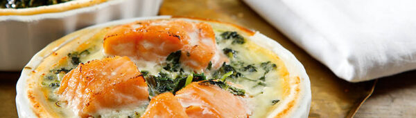 Lachs Spinat Quiche