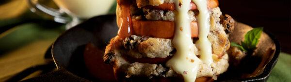 Apfel-Türmchen mit Zimt-Honig