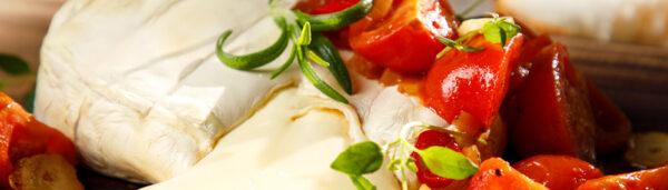 Tomaten mit Camembert
